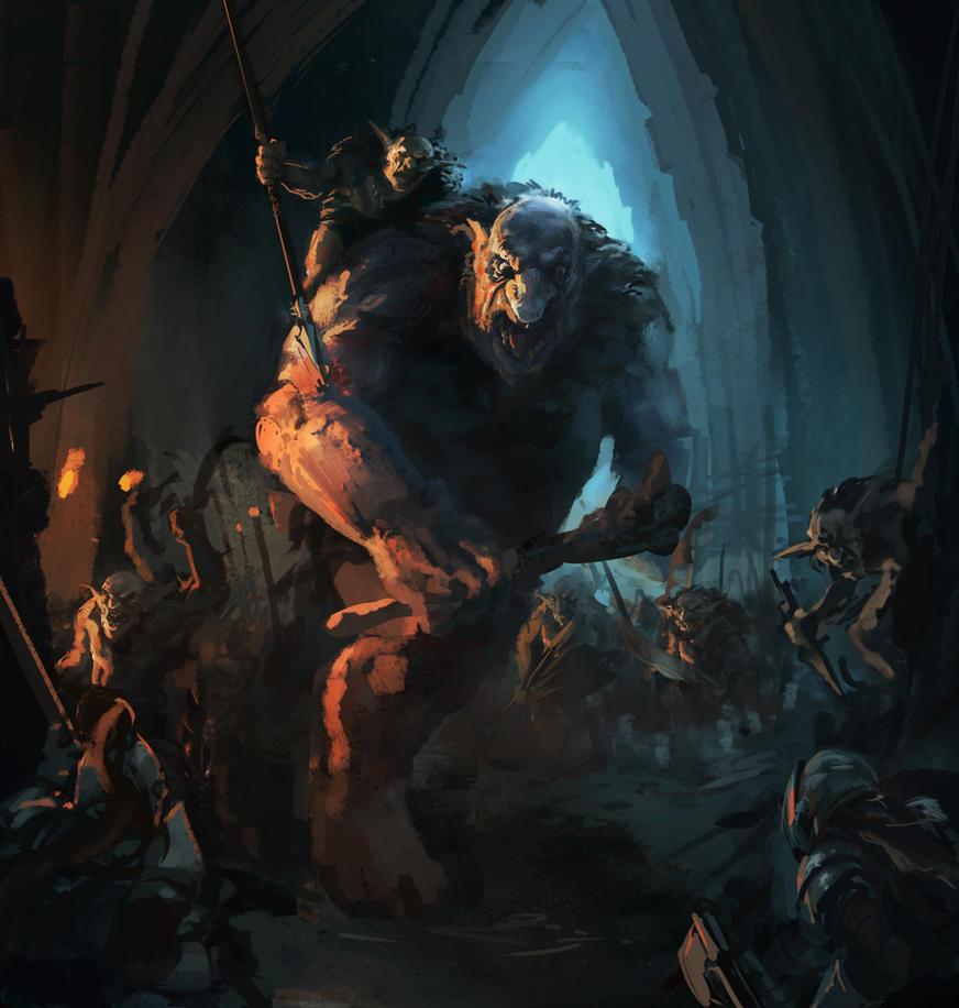 DwarfvOgre by JordyLakiere