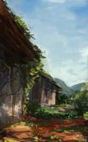 Jungle huts by JordyLakiere