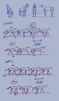 Horsse studies 2 - locootion by JordyLakiere