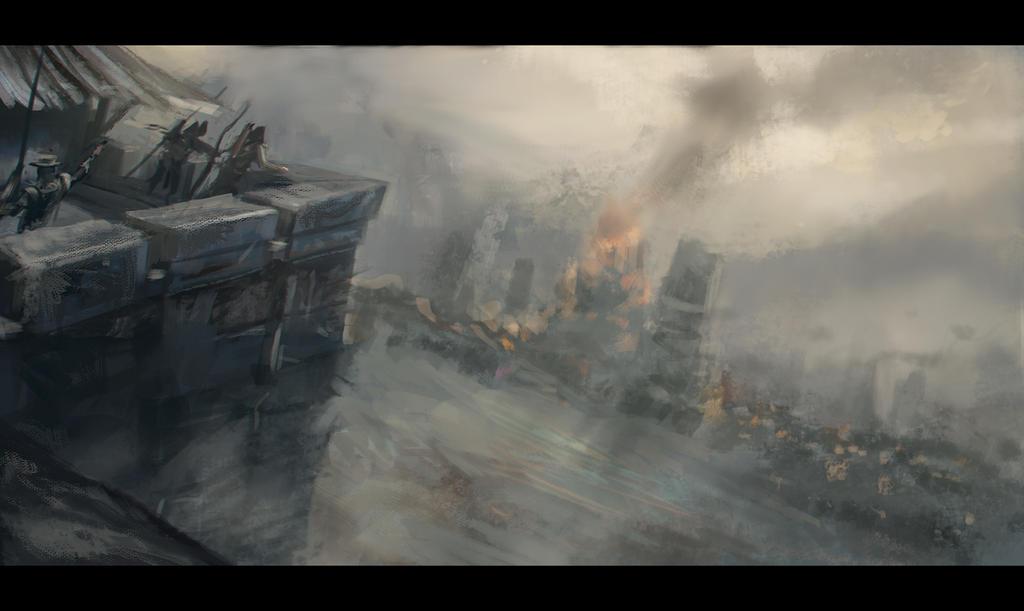 DailyDoodle 17 05 2013 - castle siege thingie by JordyLakiere