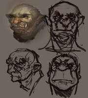 Orcs! Daily Doodle 12 06 2013 by JordyLakiere