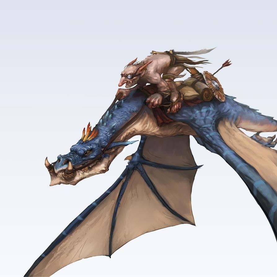 Goblin Riding Dragon By Jordylakiere On Deviantart