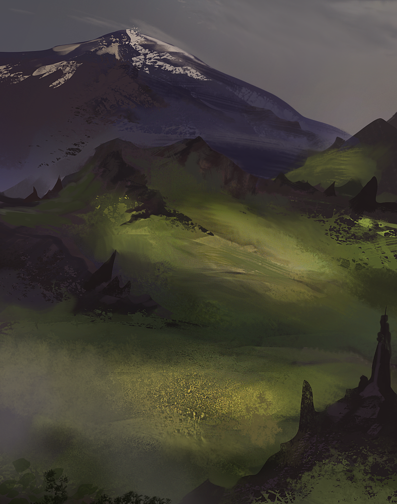 Grassy landscape by JordyLakiere