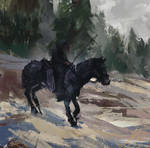 Horse in snow and shit warmup sketch #4656478