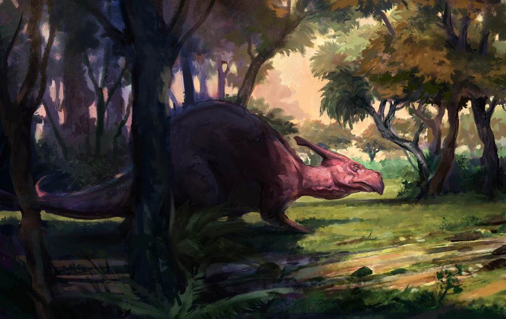Its a dinosaur (Daily painting) by JordyLakiere