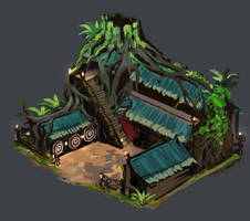 Age of Empires 2 Wood Elves Archery Range by JordyLakiere
