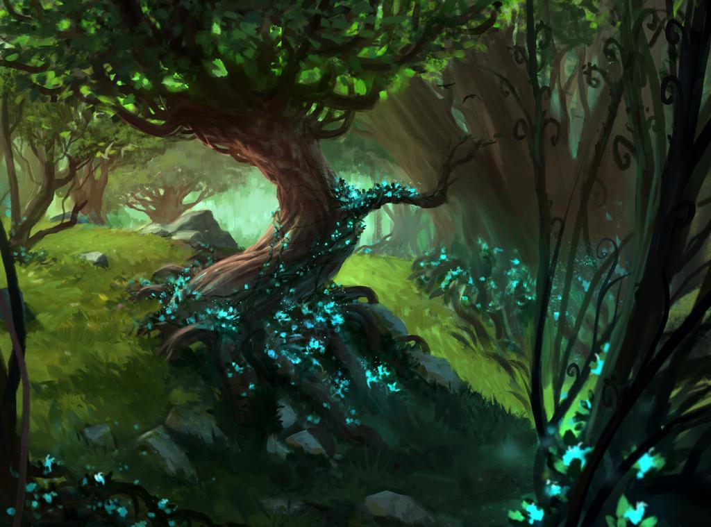 Image result for mtg cards forest art