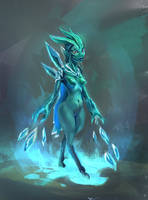 Ice succubus by JordyLakiere