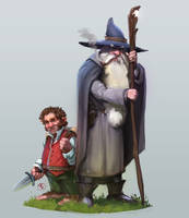 Gandalf and bilbo! :) by JordyLakiere