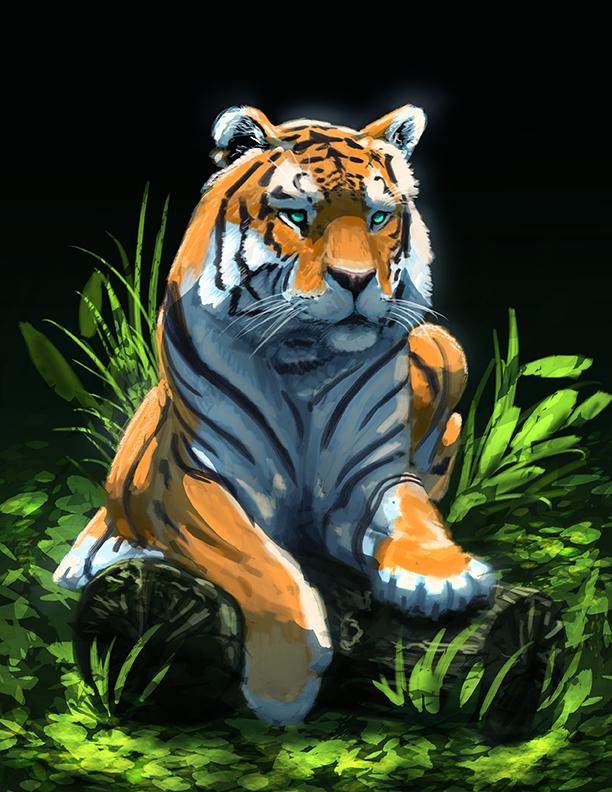 Tiger by NickRileyArt