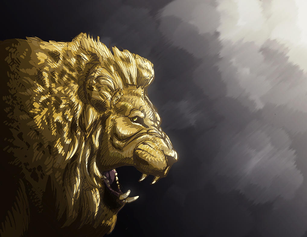 Lion 2 by NickRileyArt