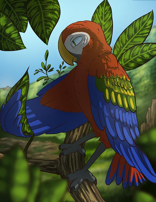 Macaw by NickRileyArt