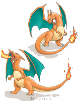 Charizard doodles by Alithographica