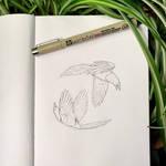 Inktober 2: Magpies