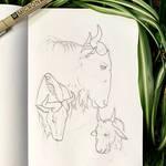 Inktober 18: Wildebeest