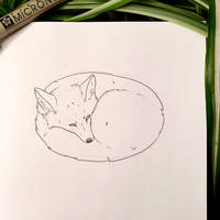 Inktober 23: Fox by Alithographica