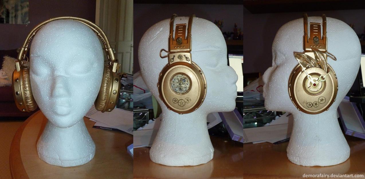 Steampunk Headphones by DemoraFairy