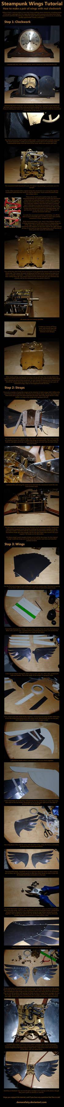 Clockwork Wings Tutorial by DemoraFairy