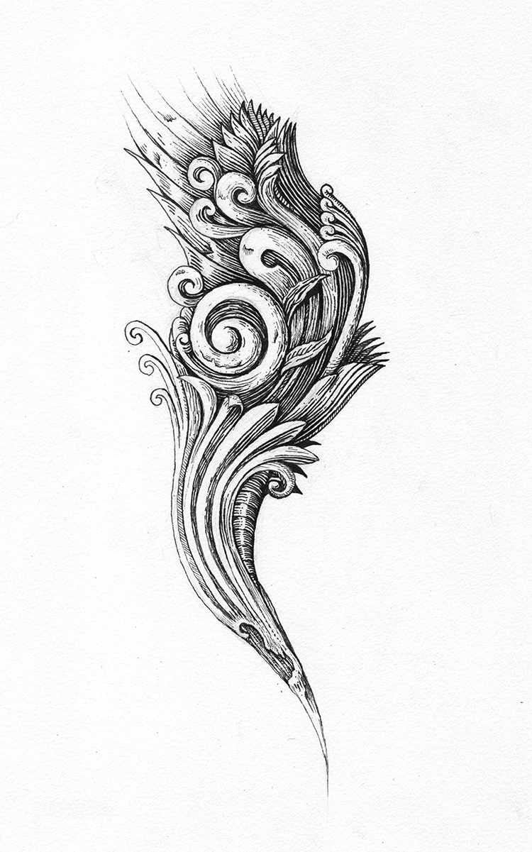 Wood Carving Sketch Ink Drawing by Hipsterscon on DeviantArt
