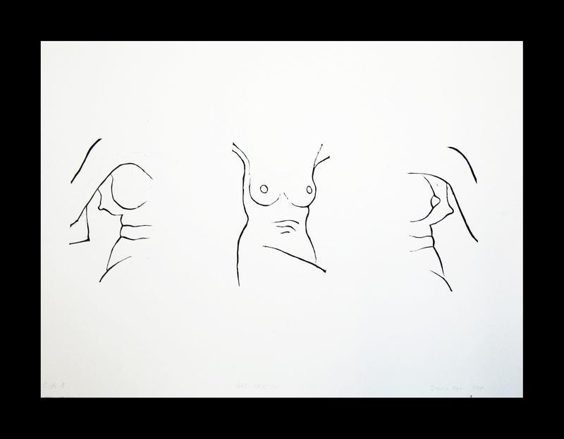 nude - triptych by samkitsch