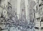 Times Square - Ballpoint pen