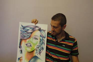 Milla Jovovich and me - Portrait