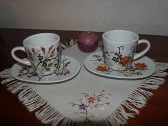 Cafe set by AncaVintilaPorcelain