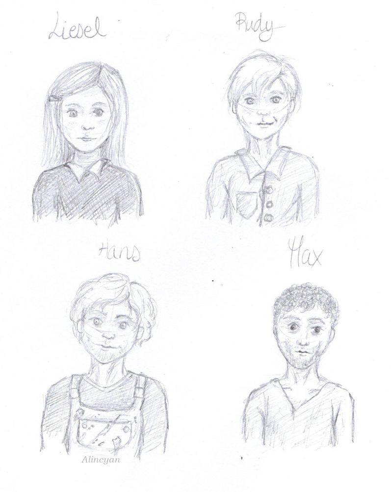 the book thief characters by alincyan on  the book thief characters by alincyan