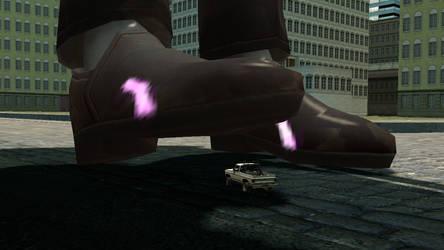 Giantess D.va stomp car 3