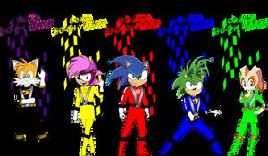 Sonic Go-Onger for TKNRKRGaim