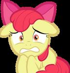 Apple Bloom worried vector