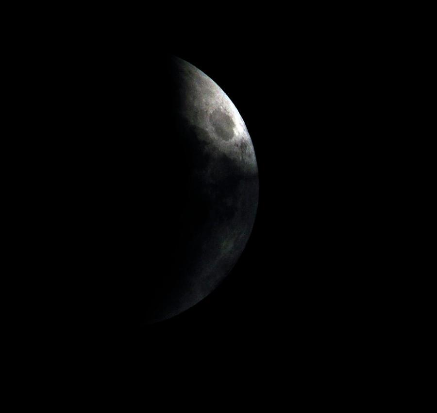 Super moon with mini cloud by RichardRobert