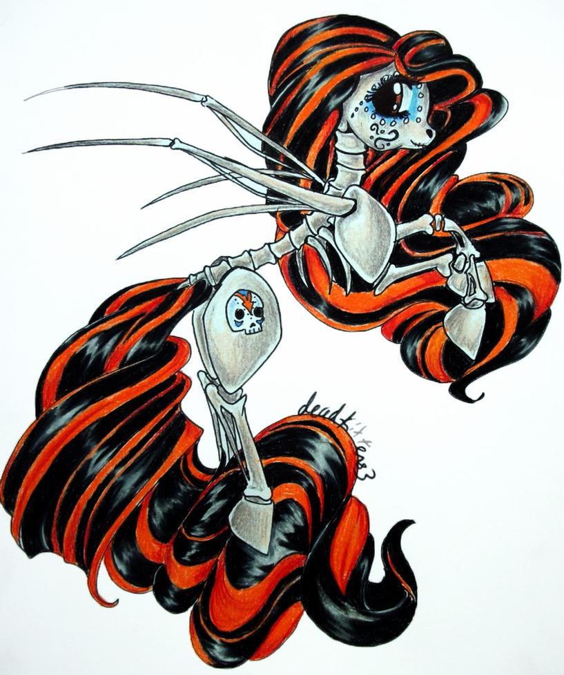 Skelita Pony by dead-kittens3