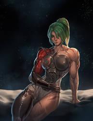 Overwatch: Female Genji by Rokupan