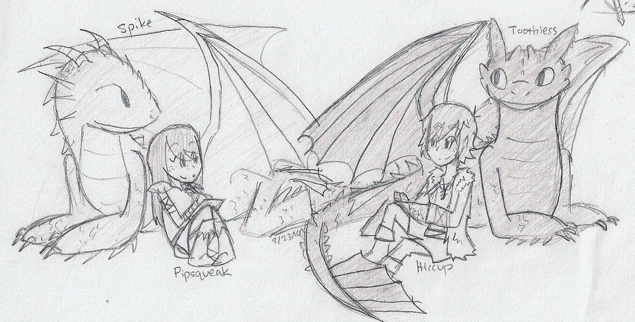 HTTYD-Drawing With Our Dragons by sailor663 on DeviantArt