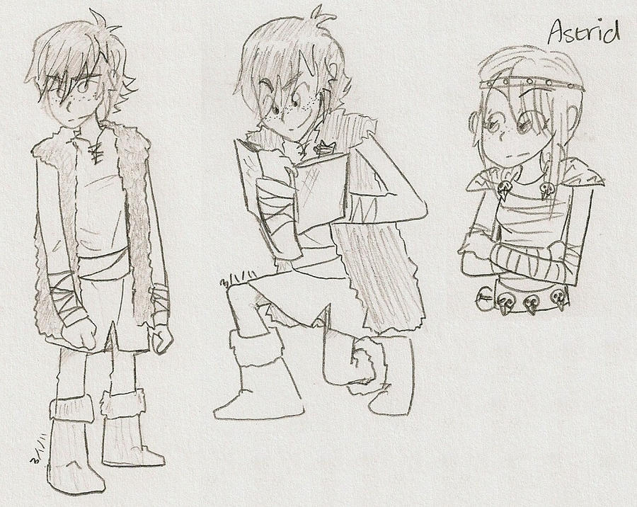 HTTYD- Hiccup Doodles + Astrid by sailor663