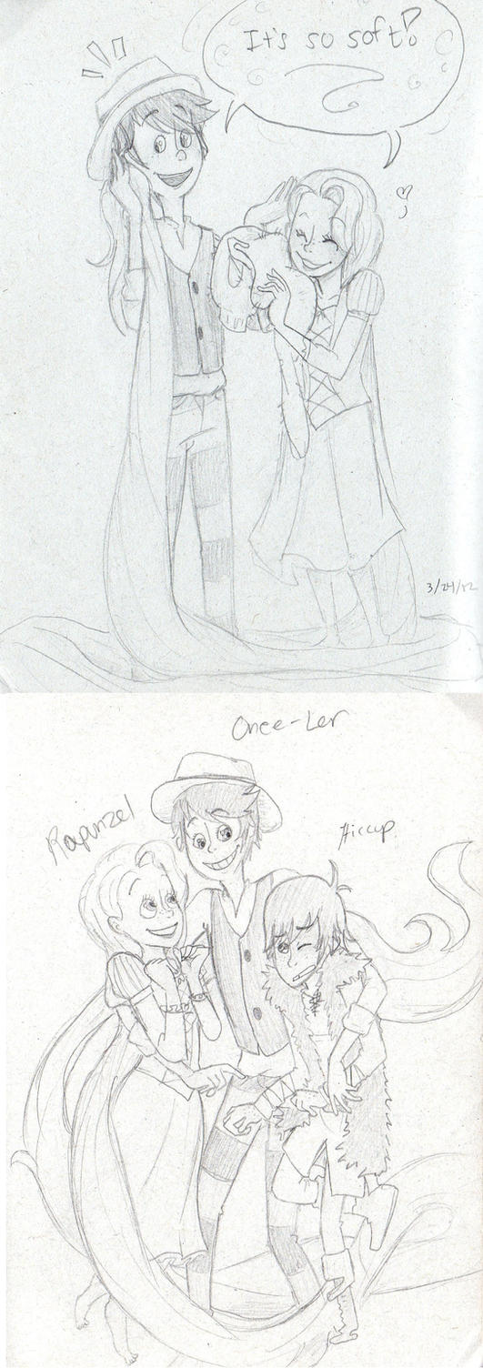 The Once-Ler, Rapunzel, and Hiccup by sailor663