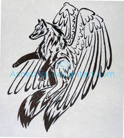 Tribal wolf Tattoo design by ashetaka