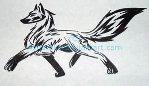 Tribal fox tattoo