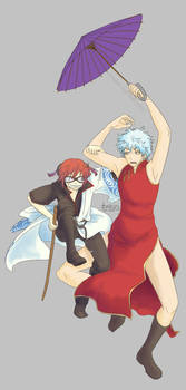 :gintama: crossdress duo