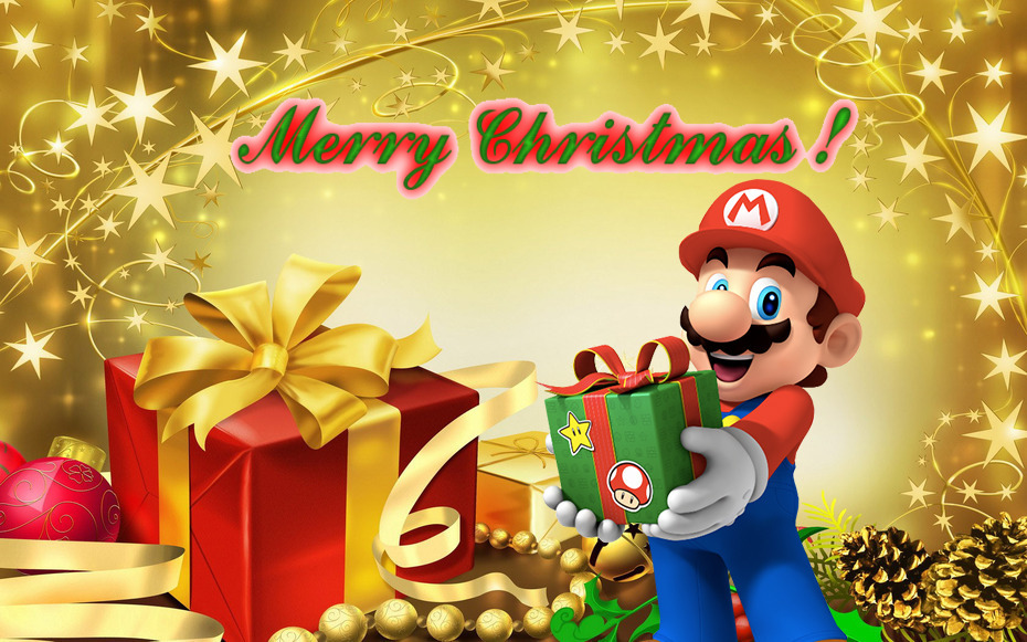 mario christmas wallpaper by marioiscool9 d6ustgf