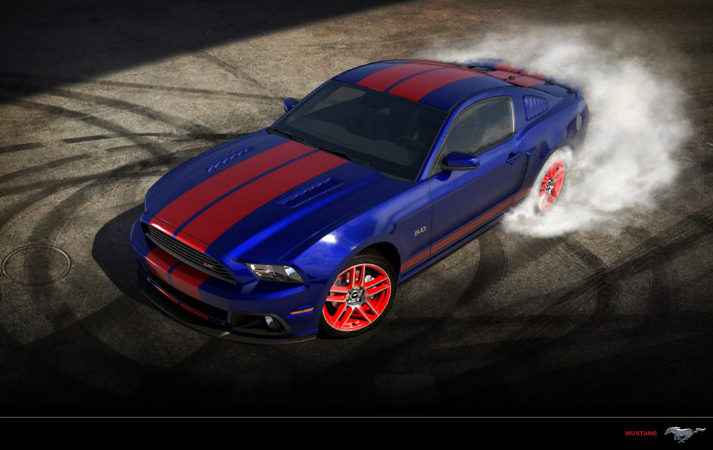 Ford Mustang Gt Blue Red By Paho95 On Deviantart
