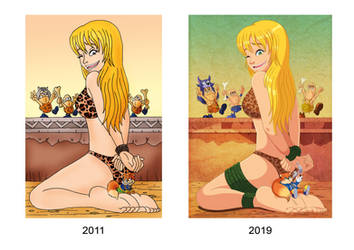 Art comparison (2011 - 2019) by Wild-Cartoon-Feather