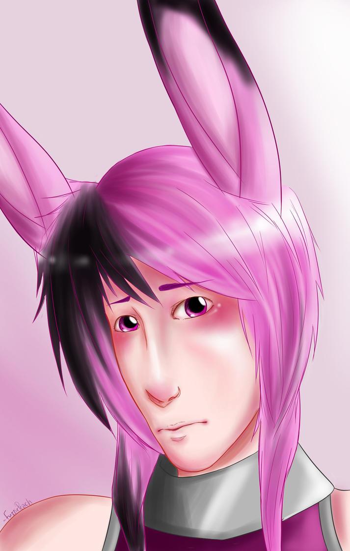 Shy Rabbit Boy by FuzziePeach
