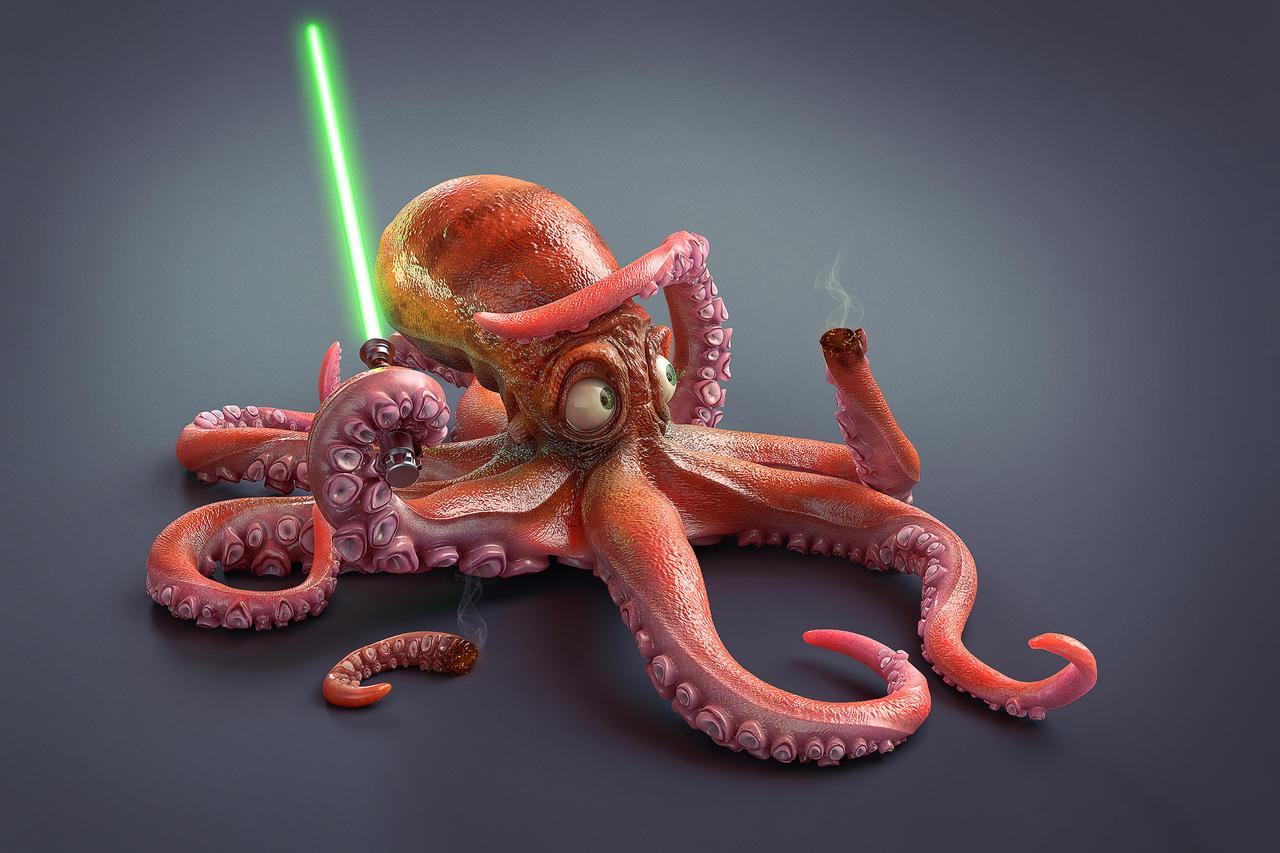 Star Wars - Squidwalker by M-Santin
