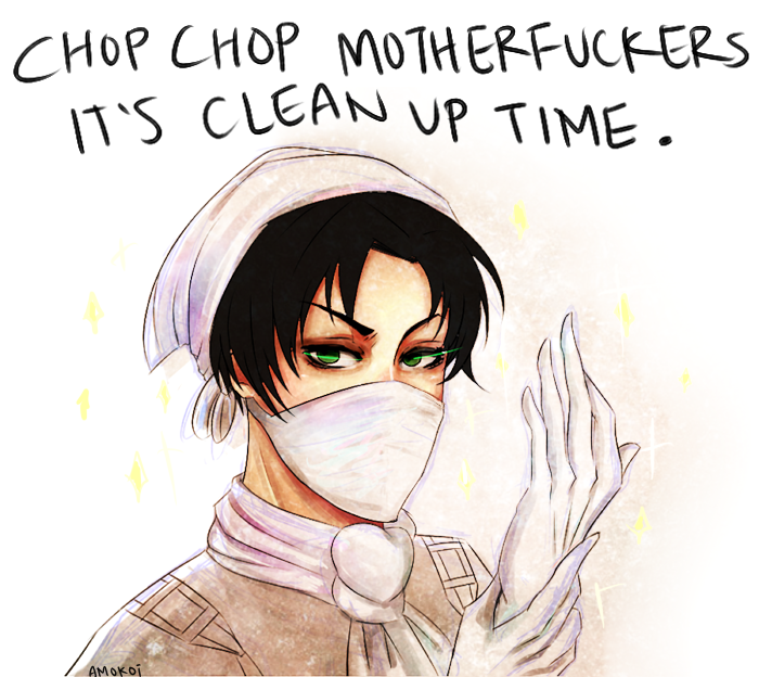 Cleaning Levi by kimuchii