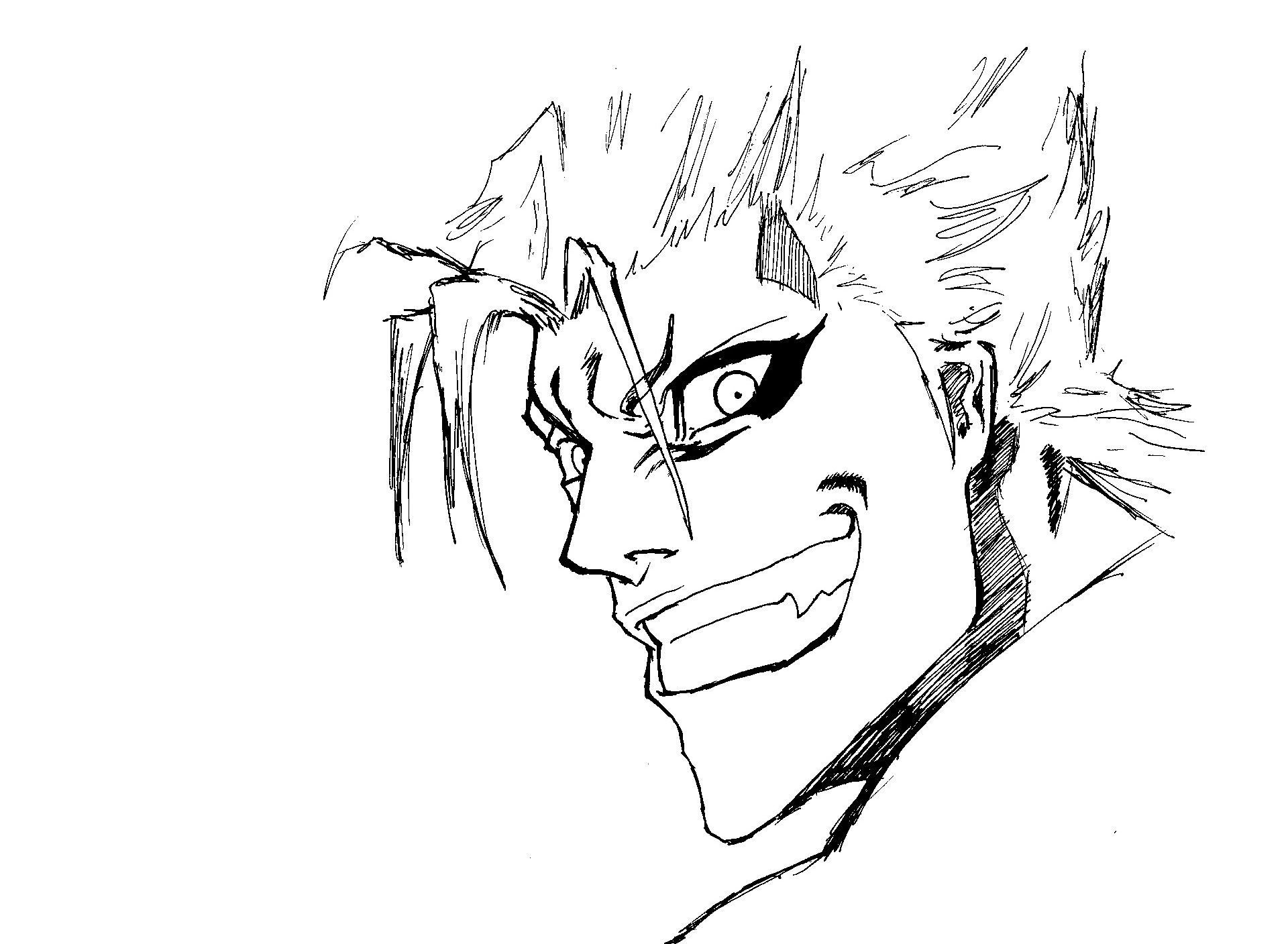 Grimmjow Jaegerjaquez (Without Mask) by wei-mini