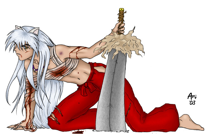 Bloodied Inuyasha By Bucktherules On Deviantart