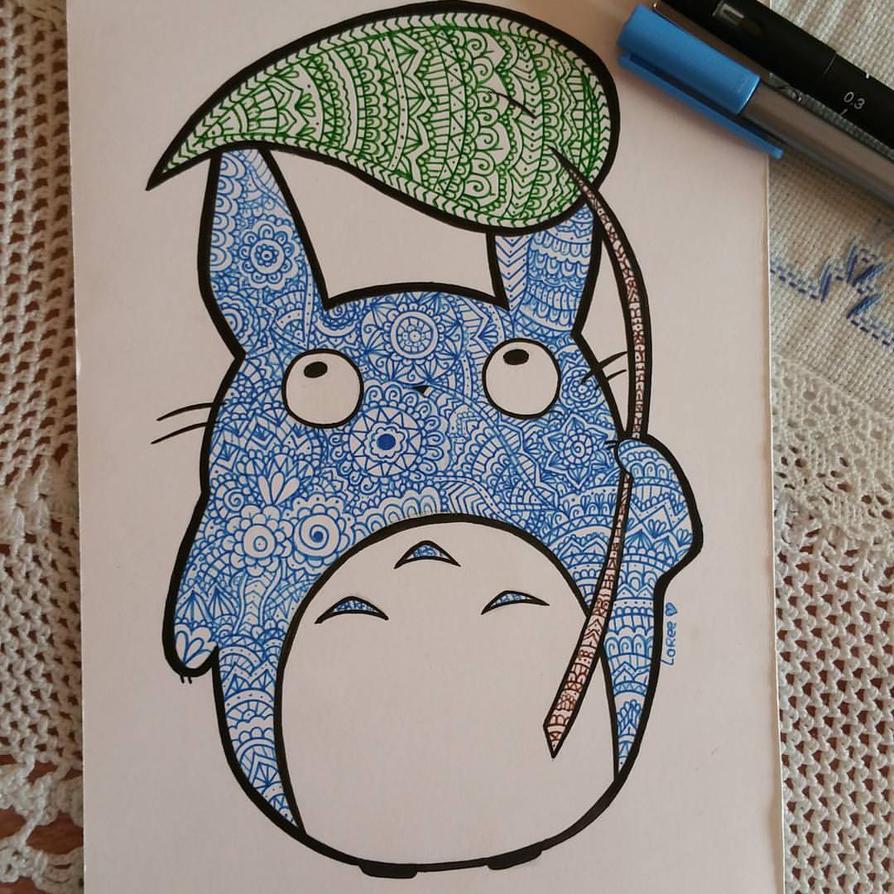 Blue Totoro from My Neighbour Totoro by LoreeMercury