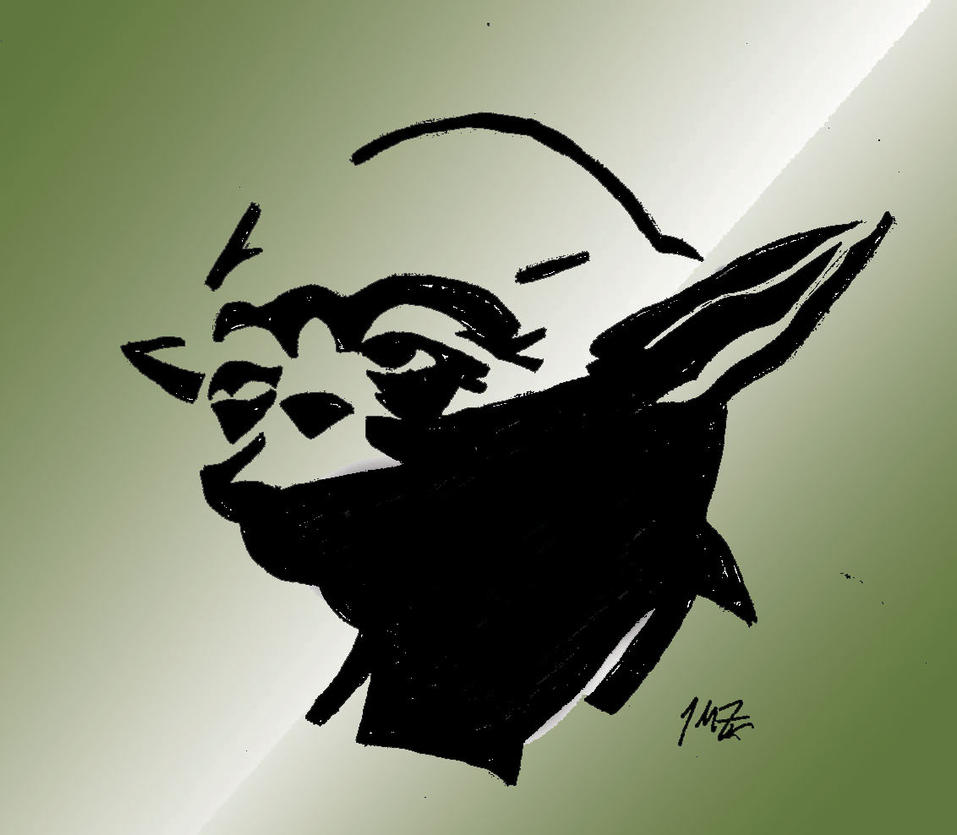 Yoda by xxjmzxx on deviantart - Pochoir star wars ...